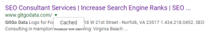 SERP Example on How To Use Google Cache